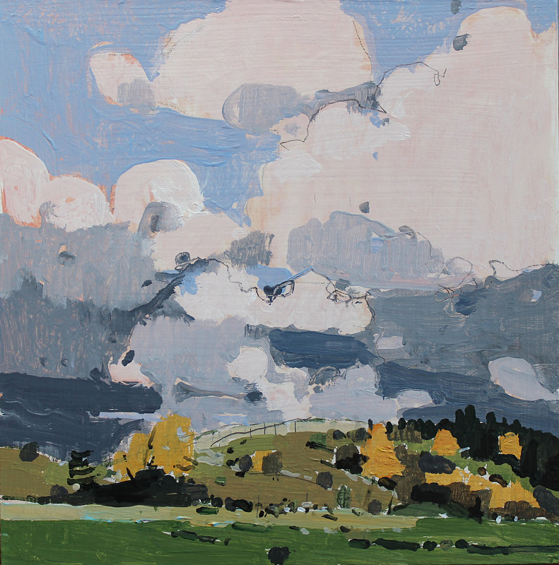 Acrylic painting Wendy's Hill, October 16 by Harry Stooshinoff
