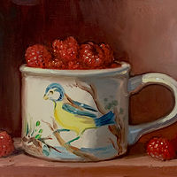 """Raspberries in Birds of Britain""  by Noah Verrier"