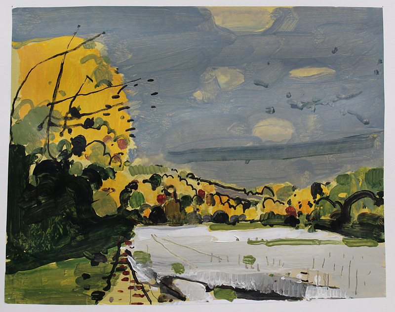 Painting Off Tobacco Road, October 18  by Harry Stooshinoff