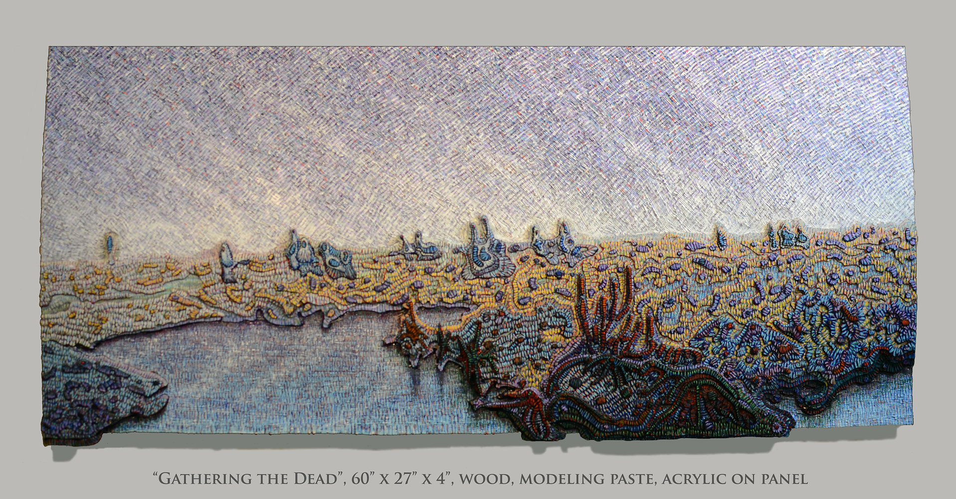 Acrylic painting Gathering the Dead by Douglas Moulden