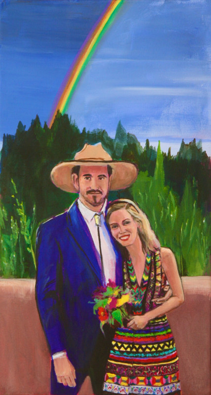 Acrylic painting Tom and Maddy by Madeline Shea