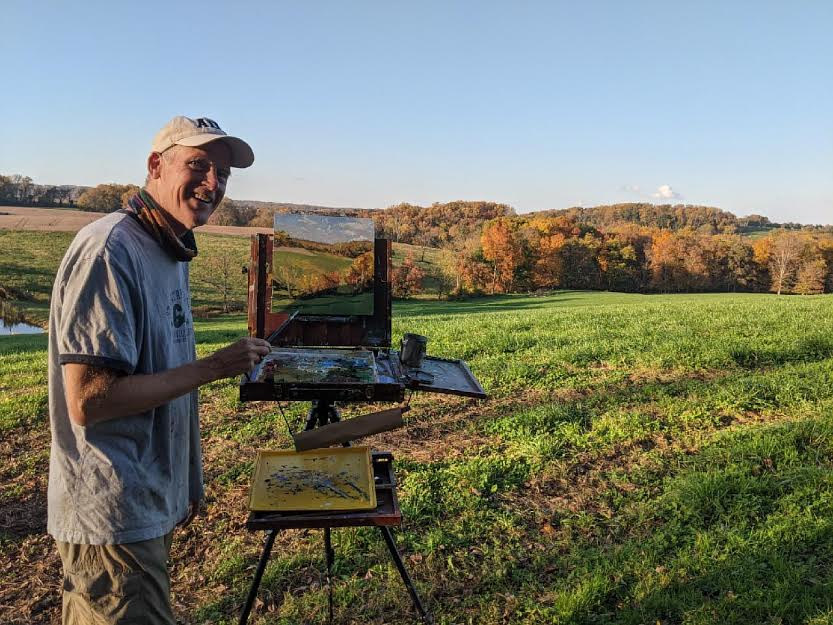 Painting at the Sayers farm -Fall by Michael Gaudreau
