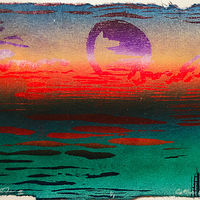 "Print Moontide II (5 1/4""X7 1/2"") by Cathie Crawford"