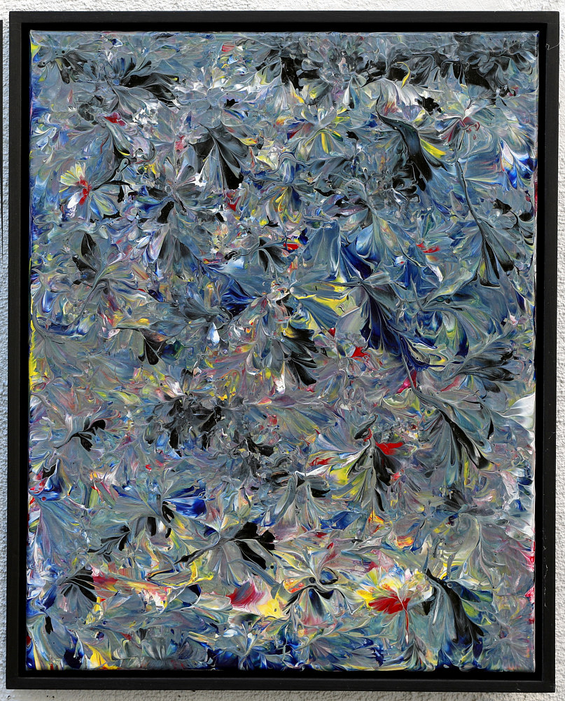 "Pull Multicolor 4 25""x19"" inches by Larry Scaturro"