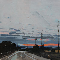Acrylic painting Sundown, Almost Home  by Harry Stooshinoff