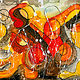 Acrylic painting Fire breathers | cracheurs de feu by Nathalie Gribinski