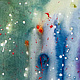 Acrylic painting Fragile emotion | Emotion fragile by Nathalie Gribinski