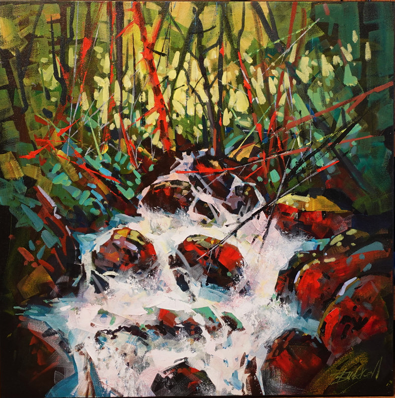 Spring Run Off  Acrylic 24x24 2020 by Brian  Buckrell