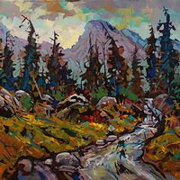 Beyond the Meadows  Acrylic 30x40 2020 by Brian  Buckrell