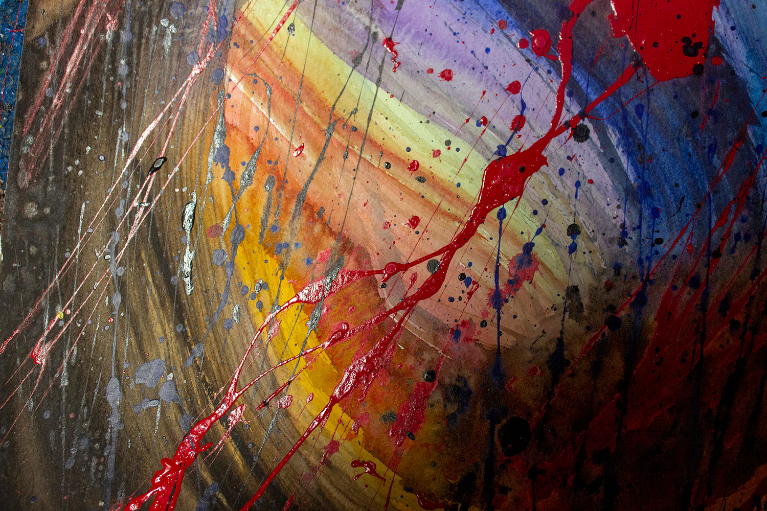 Acrylic painting Whirlwind of joy | Tourbillons de joie by Nathalie Gribinski