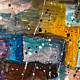 Acrylic painting Winter's patchwork | Le patchwork d'hiver by Nathalie Gribinski