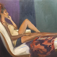 Oil painting Repose by Pamela Neswald