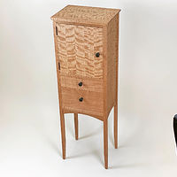 Oil painting Cherry Jewellery Cabinet. by Enrique Morales