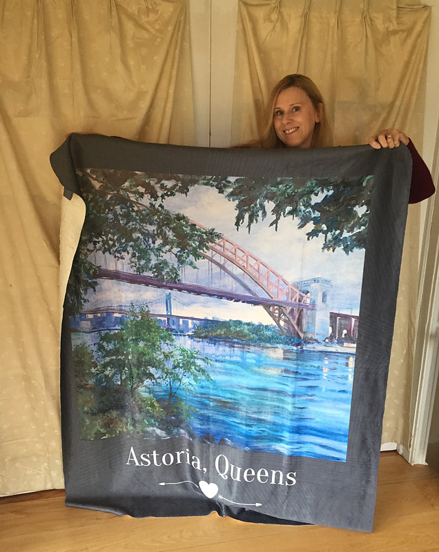 Painting Limited edition Astoria, Queens 50x60 sherpa blanket by Elizabeth4361 Medeiros
