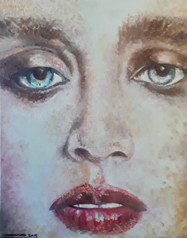 Oil painting Face by Timothy Innamorato