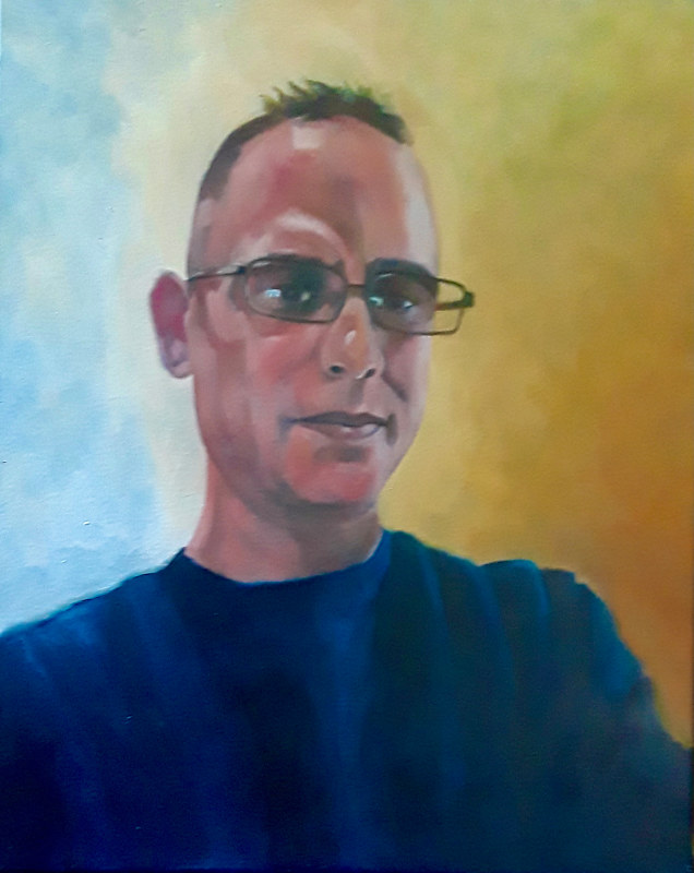 Oil painting Self portrait by Timothy Innamorato