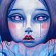 Acrylic painting I Will Drink Your Sweet Tears by Carolina Seth