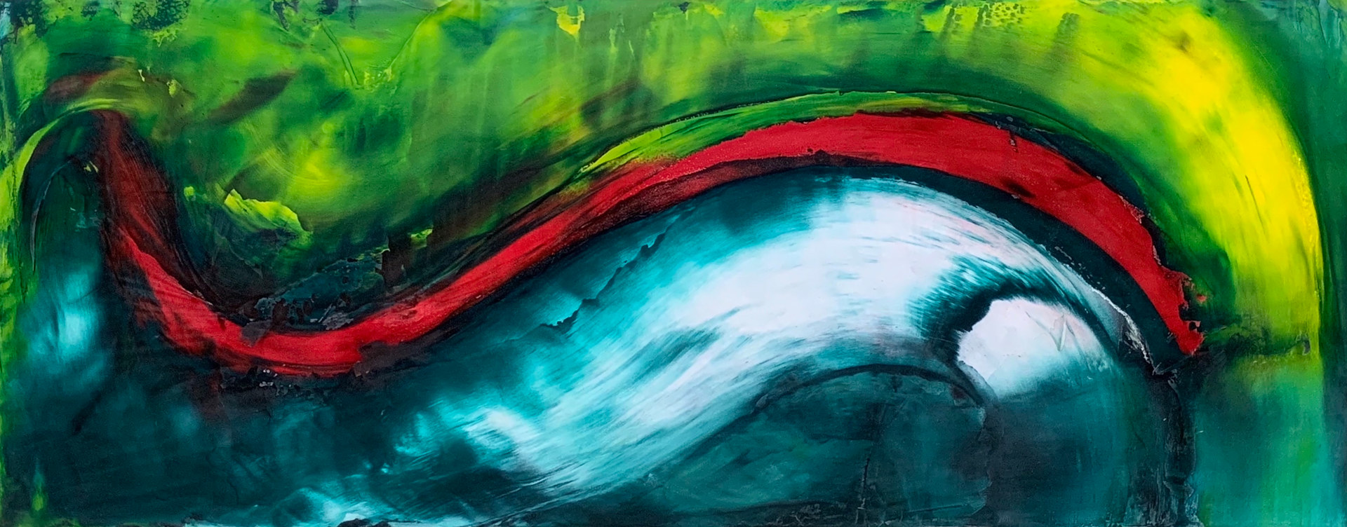 "Serf's Up ~ 24""x 60"" ~ $3,000 by Paul Catalanotto"