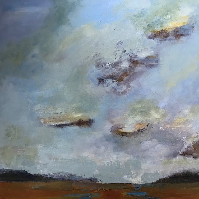 "Acrylic painting ""Passage"" Available at Vashon Center For The ARts by carol Ross"