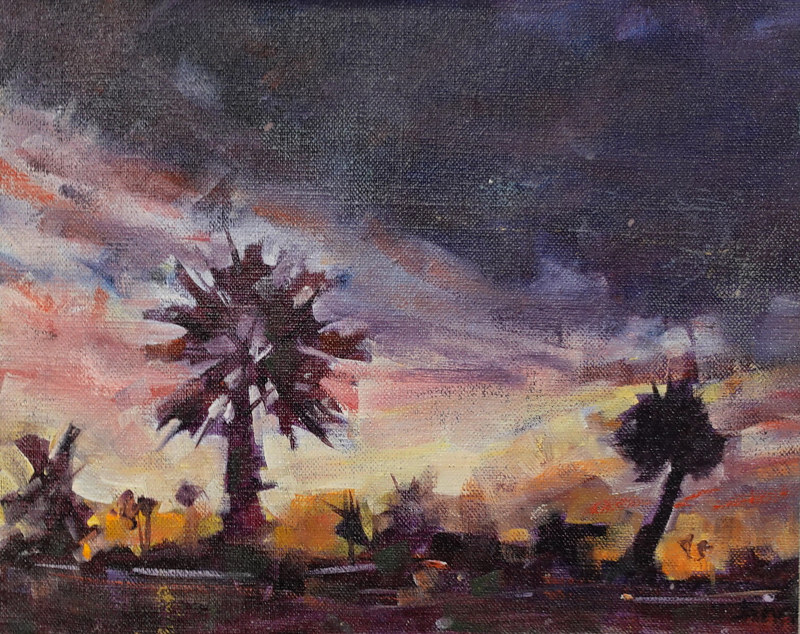 Oceanside Evening Oil 8x10 by Brian  Buckrell