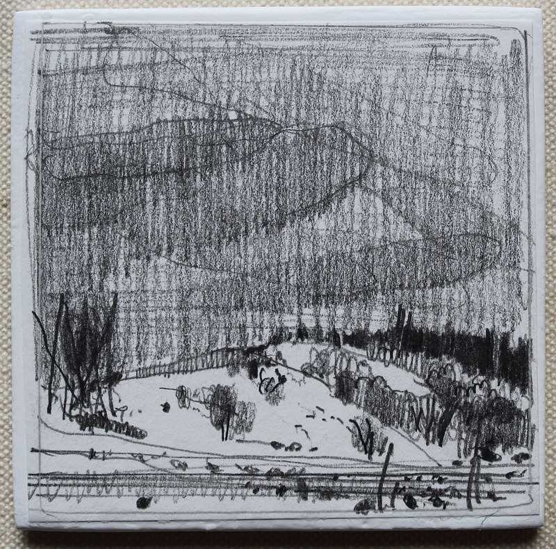 Drawing Wendy's Hill, Overcast by Harry Stooshinoff