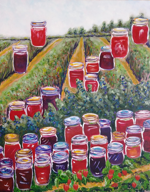 Oil painting Fields of Jam  by Michelle Marcotte