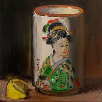 """Tea & Lemon in Japanese Teacup"" by Noah Verrier"