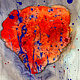 Acrylic painting Light of the heart | Lumière du coeur by Nathalie Gribinski