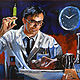 Oil painting Re-Animator by Angelo Mariano