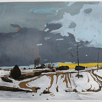 Painting December Evening, 3rd Snow by Harry Stooshinoff