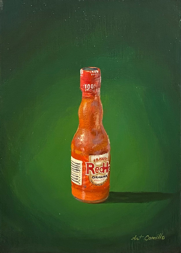 Acrylic painting RedHot by Arthur Carrillo