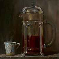 """French Press Coffee""  by Noah Verrier"