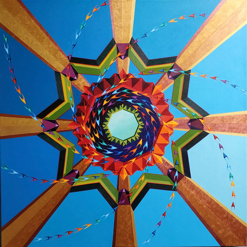 "Acrylic painting ""Portal, Sacred Conjuring"" by Jon Harris"