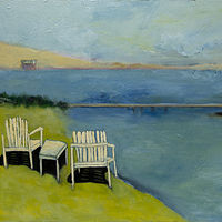 "Oil painting ""Waiting"" Available For Purchase at Fogue Gallery by carol Ross"