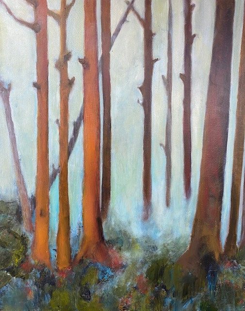 "Acrylic painting ""Hide and Seek"" Available at Women Painters of Washington Gallery by carol Ross"