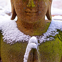 """Snow Buddha"" by Hunter Madsen"