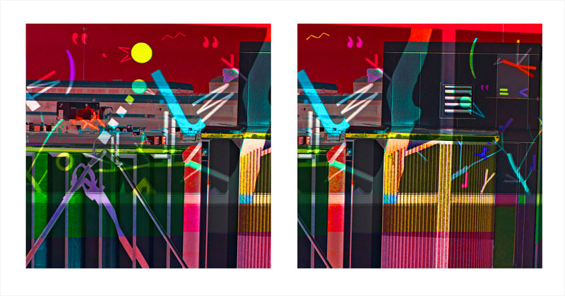 Airport Bridgeway - Diptych by Hunter Madsen