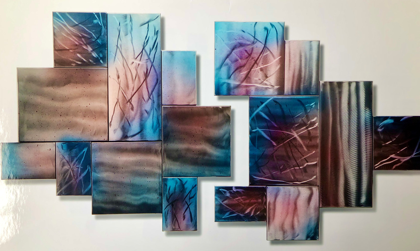 Shimmer-2set-48x3x26wall2004 by Linnie (Victoria) Aikens Lindsay