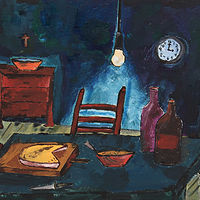 Oil painting El Comedor by Jorge Puron