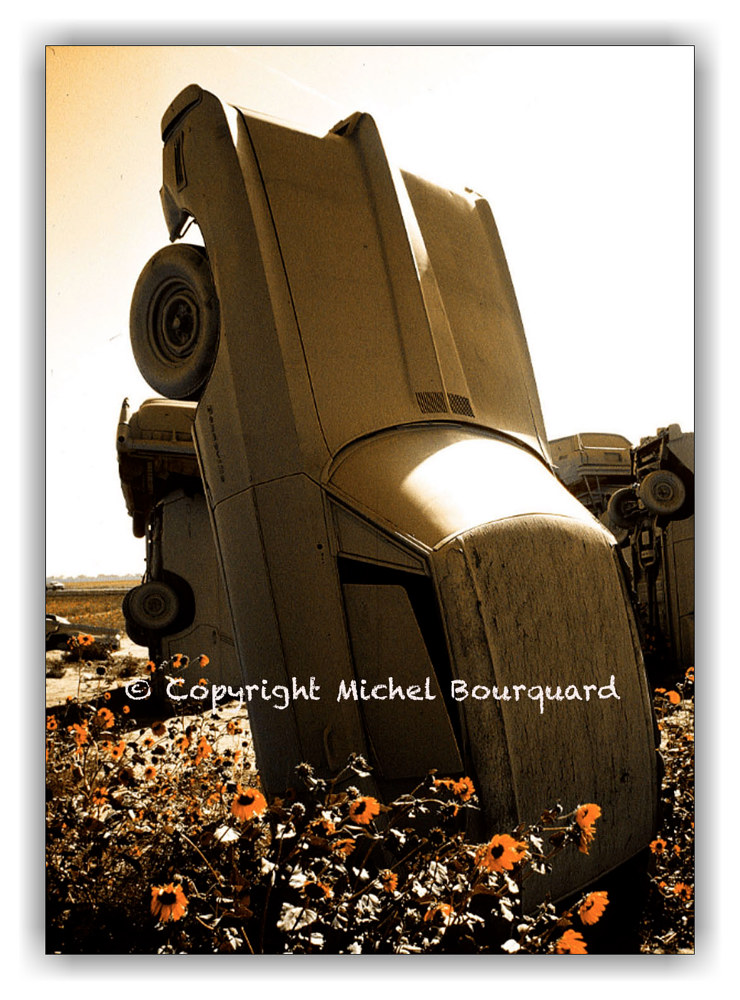 112-CarHenge in Nebraska  by Michel Bourquard