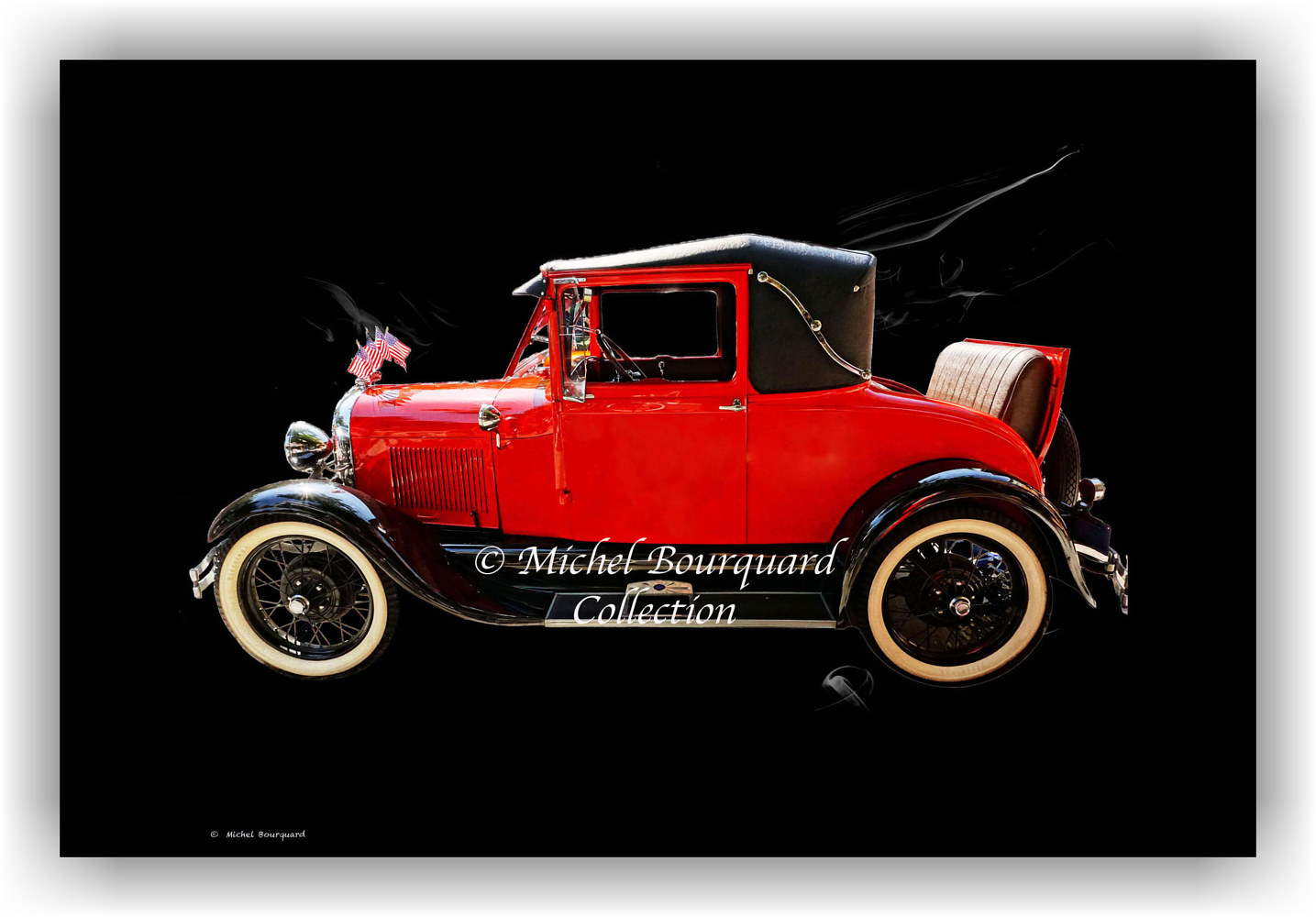 092-Red car Burbank red 16x20x315 by Michel Bourquard