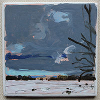 Acrylic painting North Field, New Years Eve  by Harry Stooshinoff