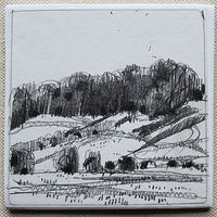 Drawing Garden Hill, New Years Day  by Harry Stooshinoff