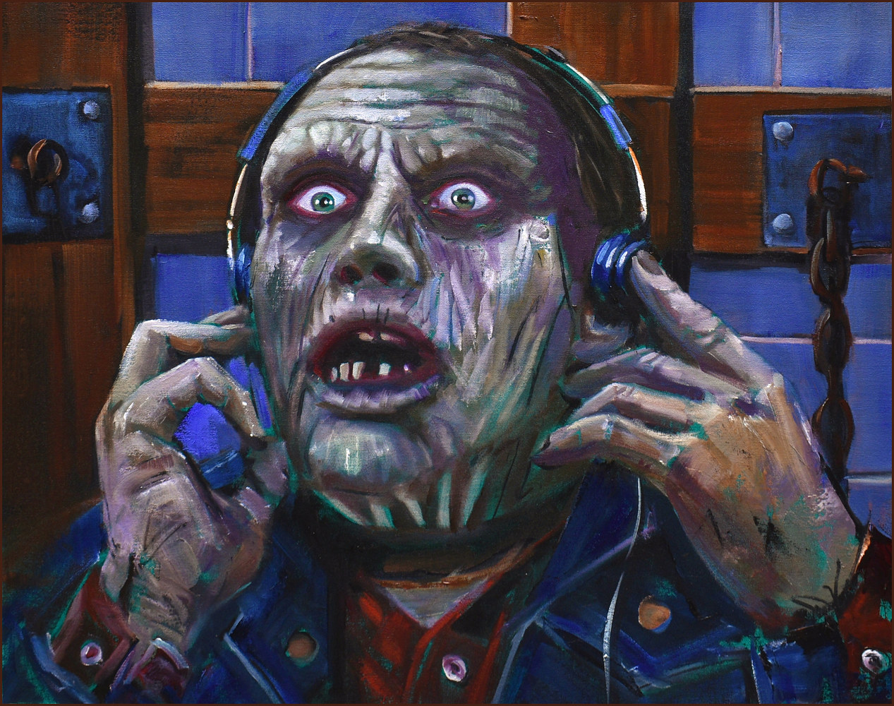Oil painting Day of the Dead, Bub by Angelo Mariano