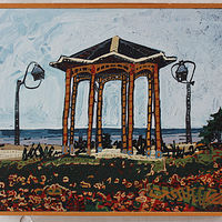 Acrylic painting Gazebo  by Harry Stooshinoff