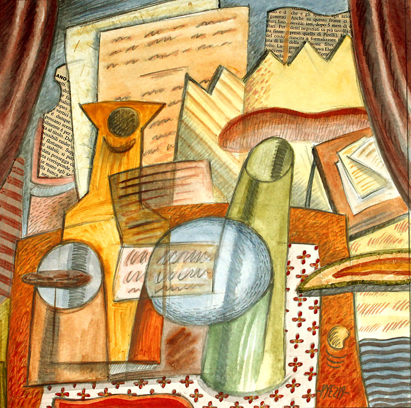 Still_Life_With_Drawn_Curtains by Trevor Pye