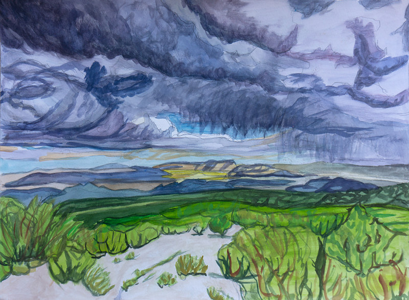 Watercolor Storm  by Crystal Dipietro