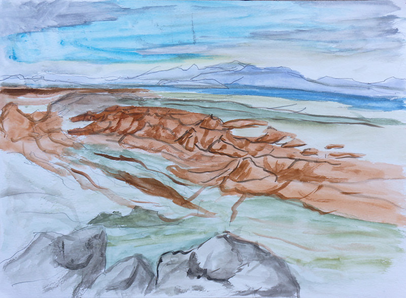 Watercolor Valley of Fire  by Crystal Dipietro