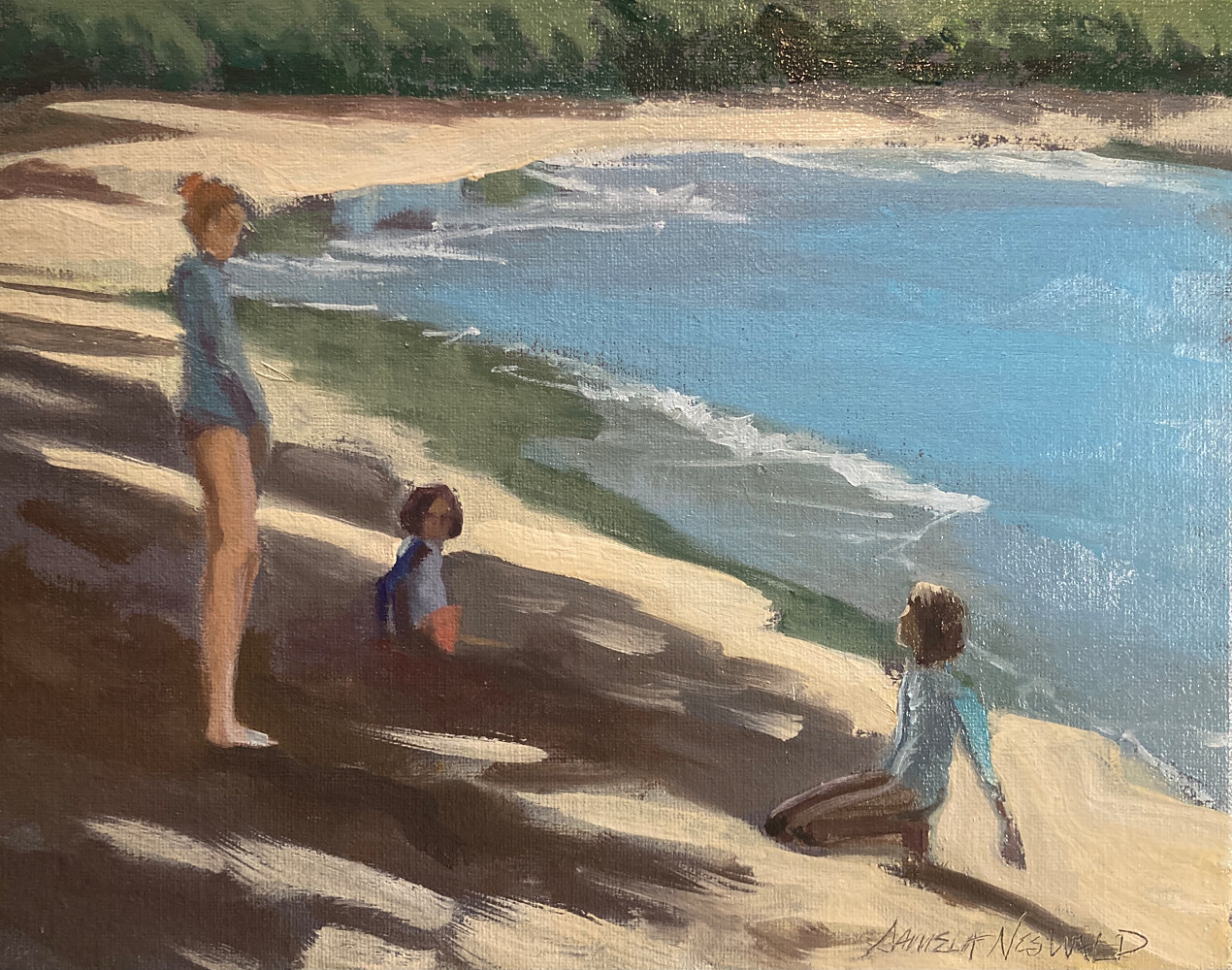 Oil painting Kids  by Pamela Neswald