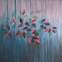 Acrylic painting Woodland Secrets   by Louise Hall by Passionate Painters